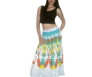 long skirt, longskirt, and hippie skirt image