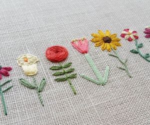 craft, embroidery, and sunflower image