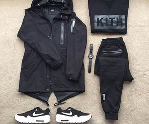 adidas, black, and fit image