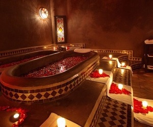 morocco, flowers, and luxury image