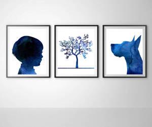 boy, dog, and etsy image