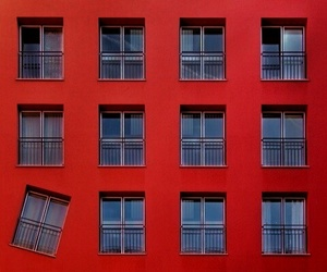 red, windows, and window image