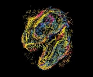 dinosaurs, illustration, and threadless image