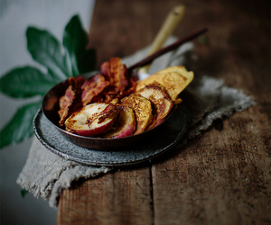 bacon, food, and peach image