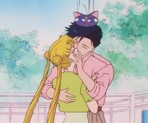 kiss and sailor moon image