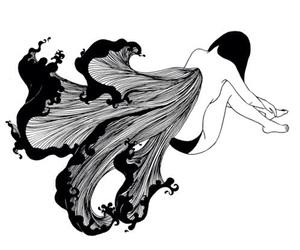 girl, illustration, and inside image