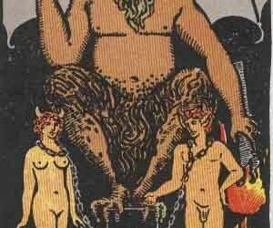 Devil, tarot, and art image
