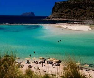 beach, vacation, and crete image