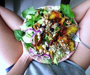 food, salad, and vegan image