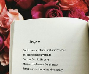 quote, book, and progress image