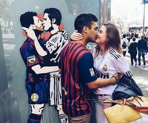 Barca, couple, and leo messi image