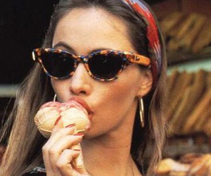 ice cream, vintage, and sunglasses image