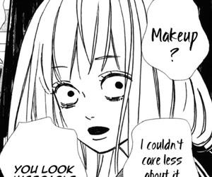 anime girl, less, and makeup image