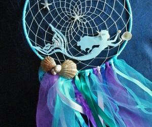 blue, dream catcher, and fantasy image