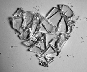 heart, broken, and glass image