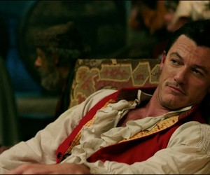 luke evans, belle, and gaston image