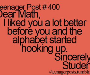 math, teenager post, and student image