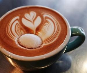 art, coffee, and creamy image