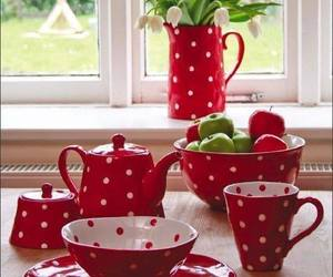 country, red, and tea time image