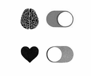 heart, brain, and on image