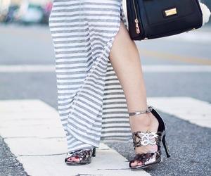 dress, fashion, and sandal image
