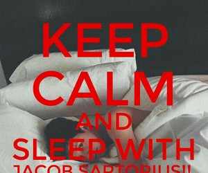 js, keep calm, and sleep image