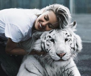 tiger, animal, and outfit image