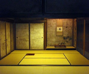 golden, yellow, and japanese tea room image