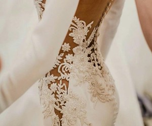 bridal, dress, and girls image