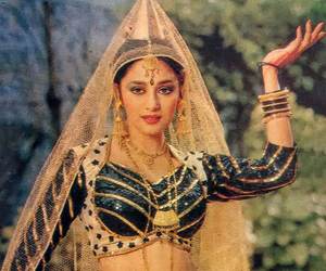madhuri dixit, indian cinema, and old bollywood image
