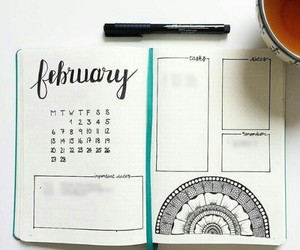 february, note, and notebook image