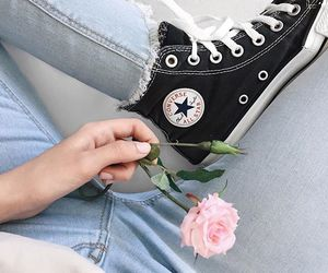 converse, jeans, and aesthetics image