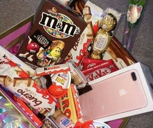 chocolate, iphone, and food image