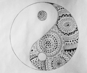 art, black and white, and boho image