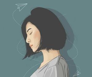 art, draw, and tumblrgirl image