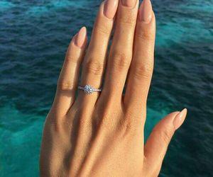nails, ring, and sea image