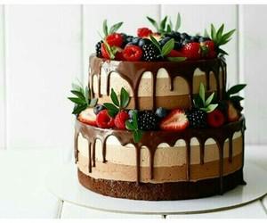 berry, cake, and chocolate image