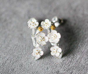 etsy, jewelry, and flower earrings image
