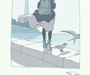 art, bird, and illustration image