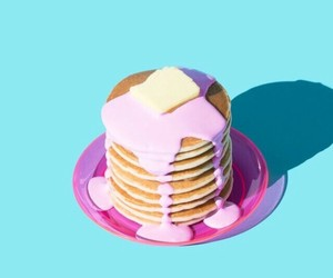 pancakes, food, and pink image