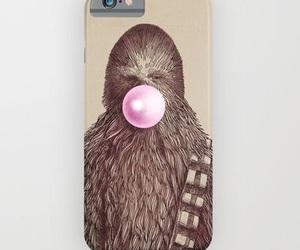 star wars, phone case, and chewbaca image