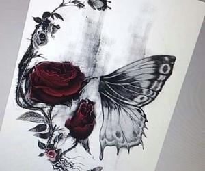 skull, tattoo, and art image