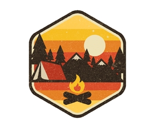 camping, fire, and illustration image