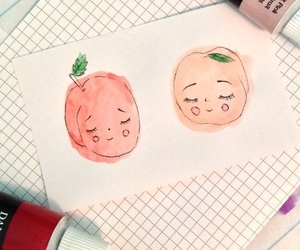 peach, aesthetic, and drawing image