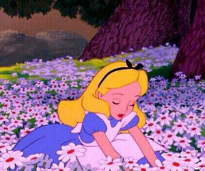 wallpaper, alice in wonderland, and flowers image