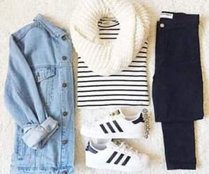 adidas and skinny jeans image