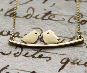 etsy, silver bird necklace, and necklace bird love image