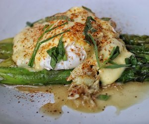 asparagus, butter, and egg image