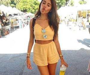 madison beer, yellow, and goals image