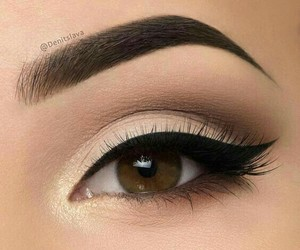 makeup, simple, and prety image